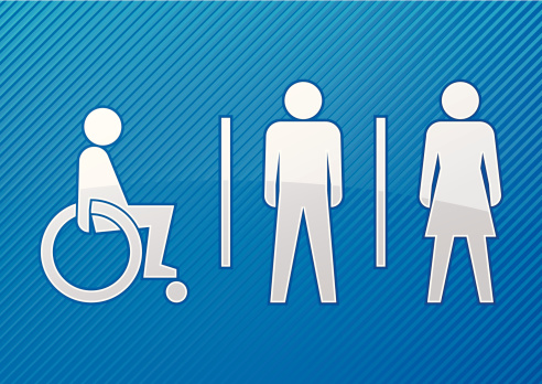 Abstract toilet sign